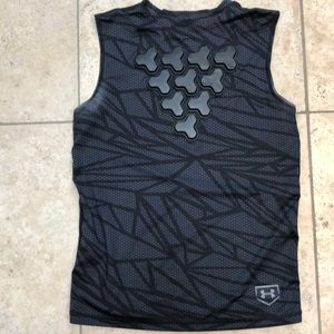 Girls softball chest protector shirt